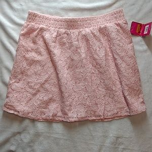 Candie's NWT floral lace pink mini skirt
